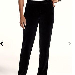 Chico's Black Velour Velvet Pull-on Pants XL